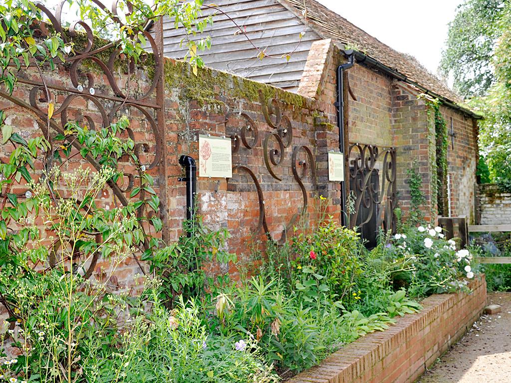 locally salvaged ironwork for garden features
