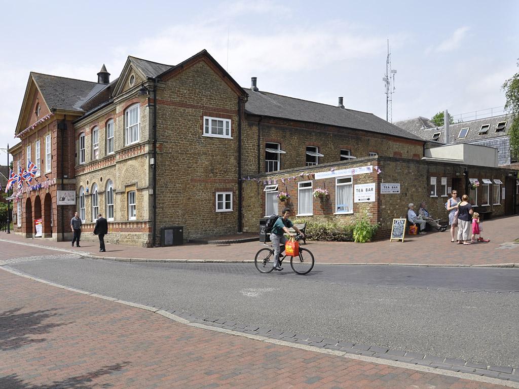 internal redec for cinema/theatre and cash desk at Borough Hall