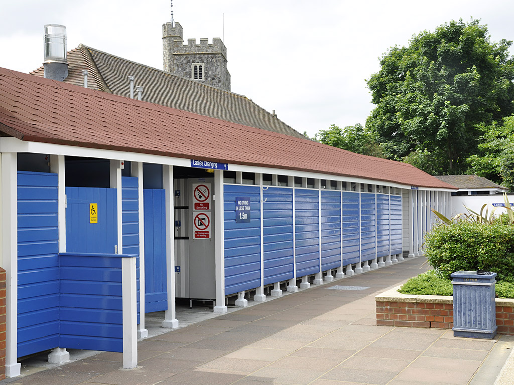 new coverings to changing rooms, timber repairs and decoration